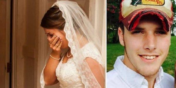la mariée tient la main de son futur mari et découvre la vérité sur l'homme qu'elle compte épouser