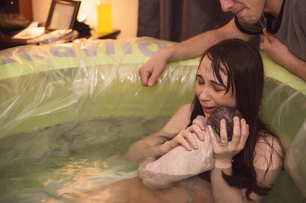 Une naissance dans l'eau