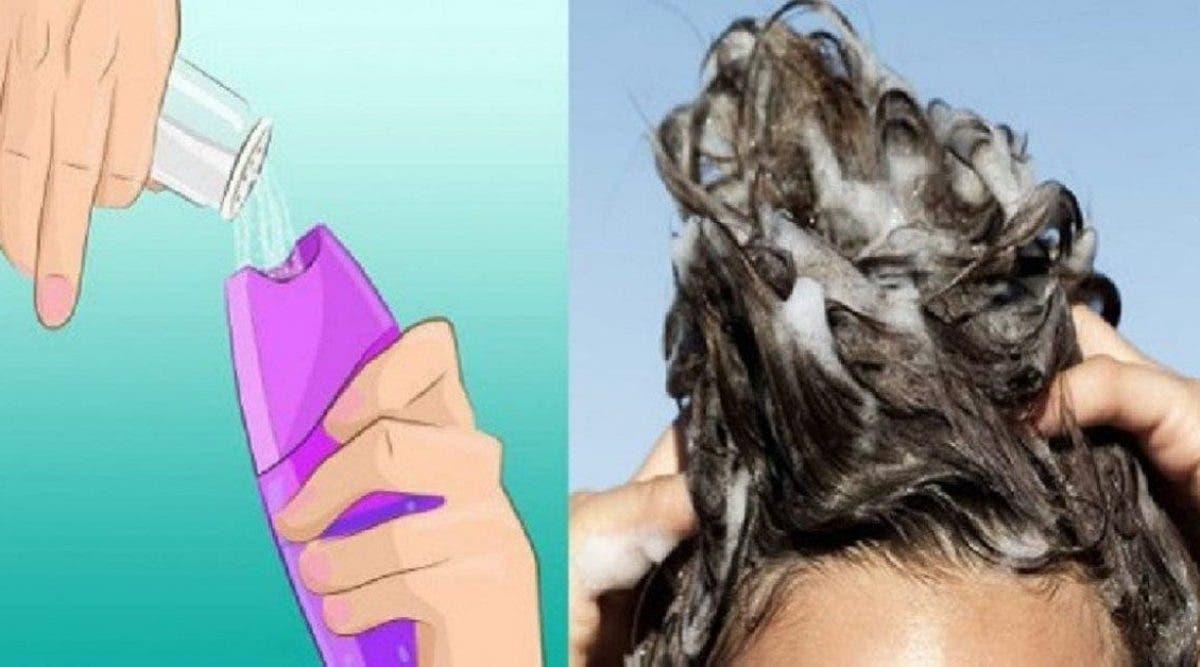 Ajoutez du sel dans votre shampoing avant de vous doucher