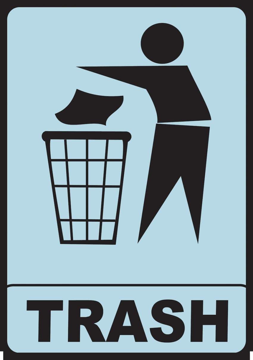 laisser ordure cabine essayage
