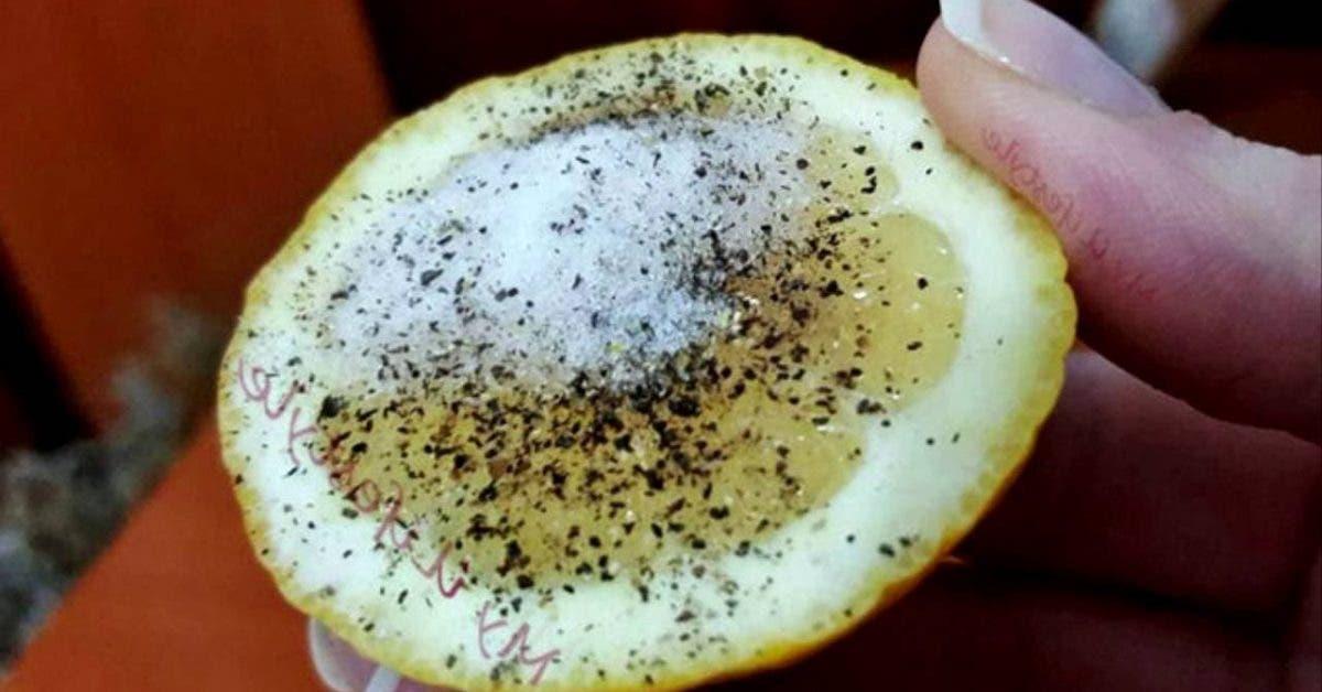 Le citron, le sel et le poivre sont mieux que certains médicaments