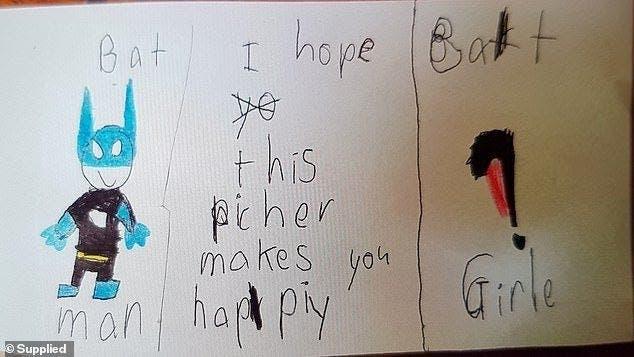 Un enfant de 7 ans donne une lettre déchirante de suicide à son professeur