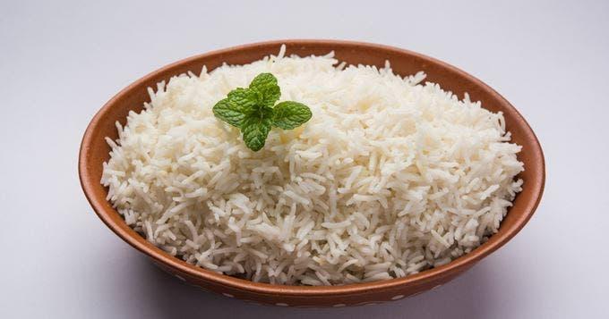 le riz blanc