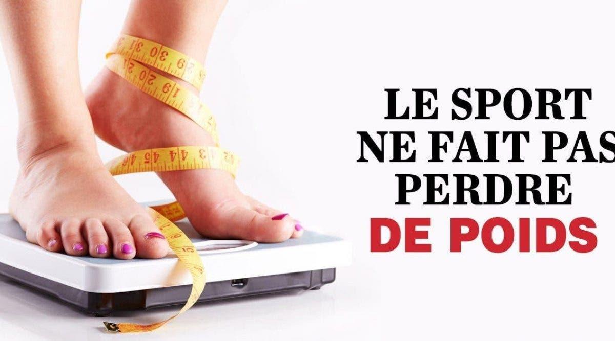 Voici pourquoi faire du sport ne vous fera pas perdre du poids