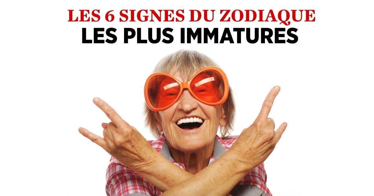 Les 6 signes du zodiaque les plus immatures