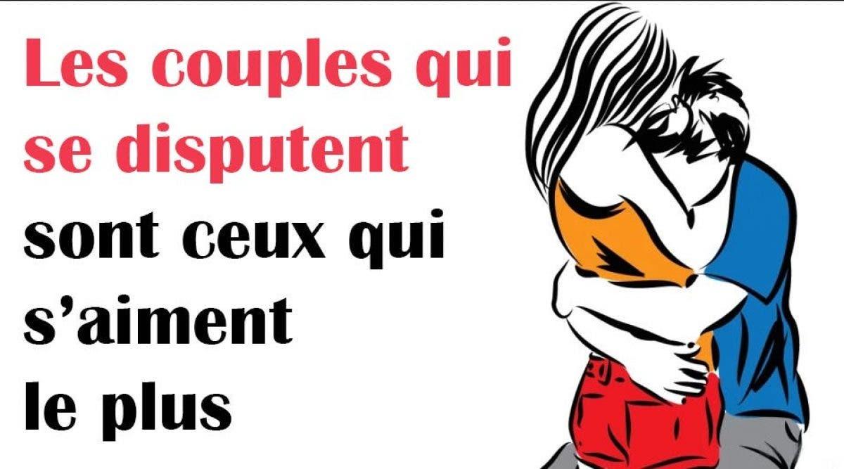 les couples qui se disputent sont ceux qui s'aiment le plus