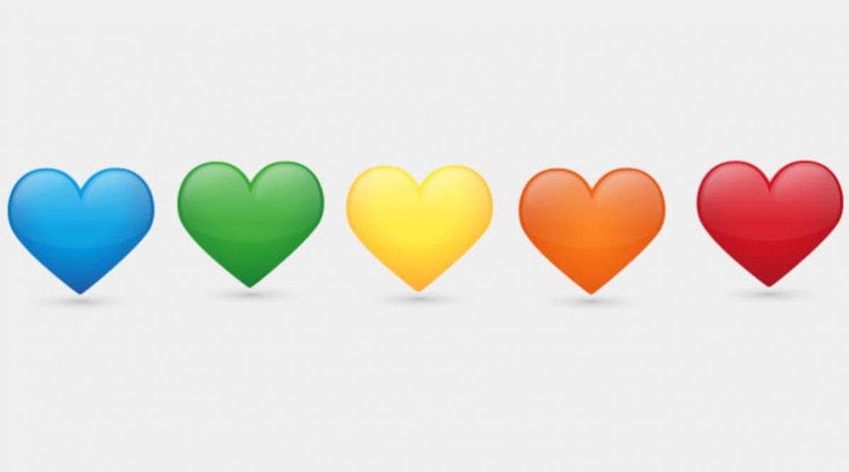 Les différentes couleurs des cœurs Emoji ont chacune une signification  différente