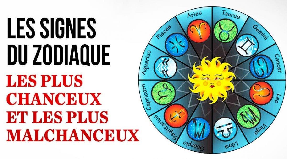 Voici les signes du zodiaque les plus chanceux et les plus malchanceux