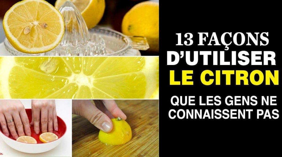 façons d'utiliser le citron que 90% des gens ne savent pas