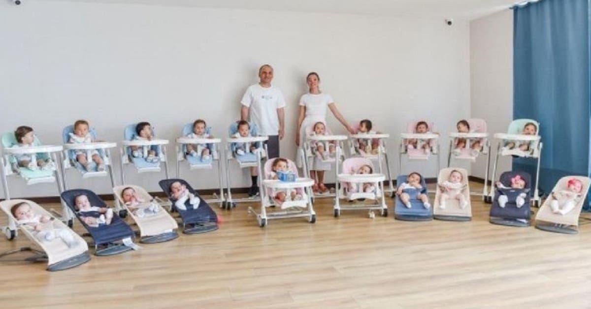 « J'ai eu 20 bébés en un an - nous avons 16 nounous payées 80 000 euros et nous voulons 100 enfants »