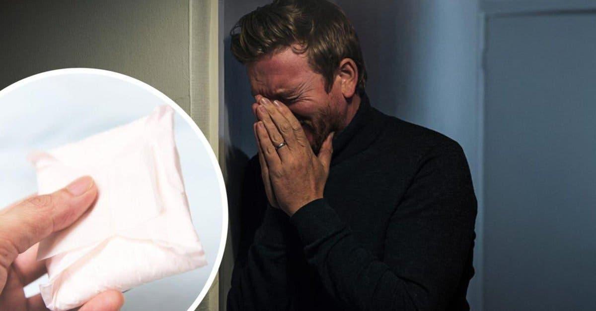 Ce mari pleure après avoir été humilié dans un magasin pour avoir acheté des serviettes hygiéniques à sa femme