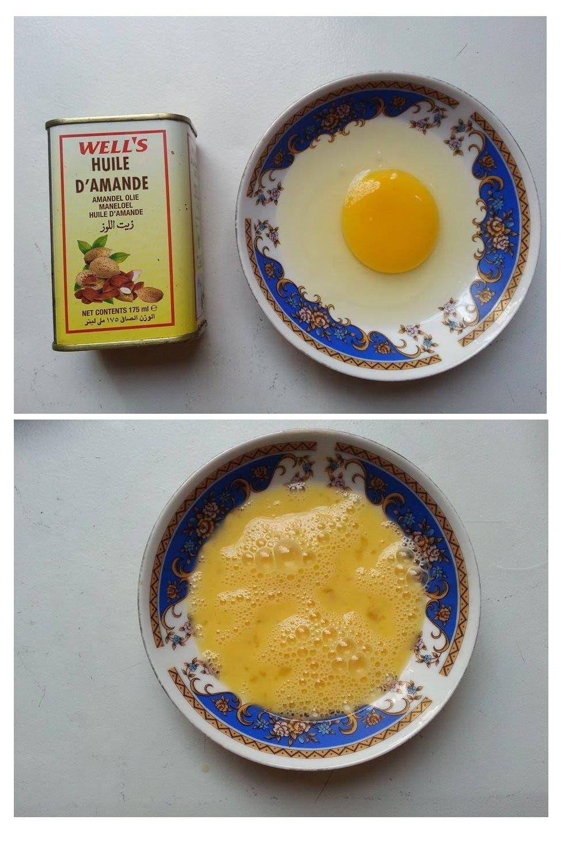 masque oeuf huile damande