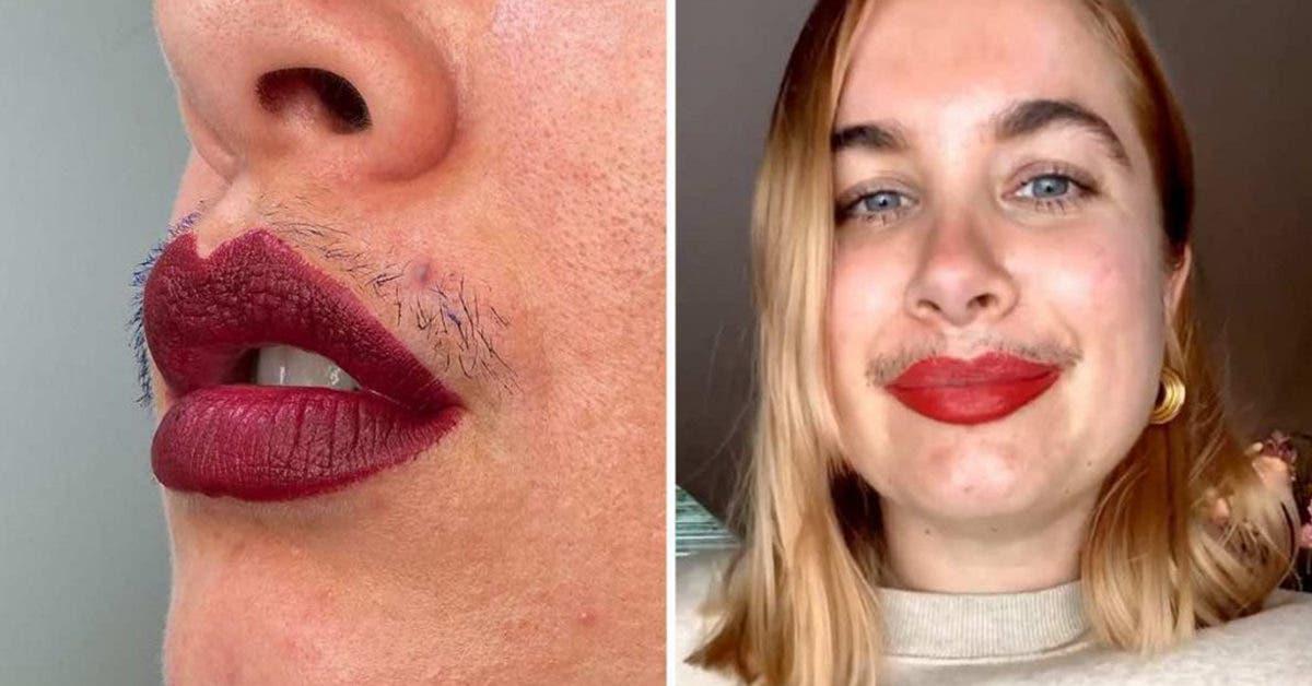 Cette influenceuse refuse d'utiliser des filtres et affiche sa « moustache » pour renverser les normes de beauté