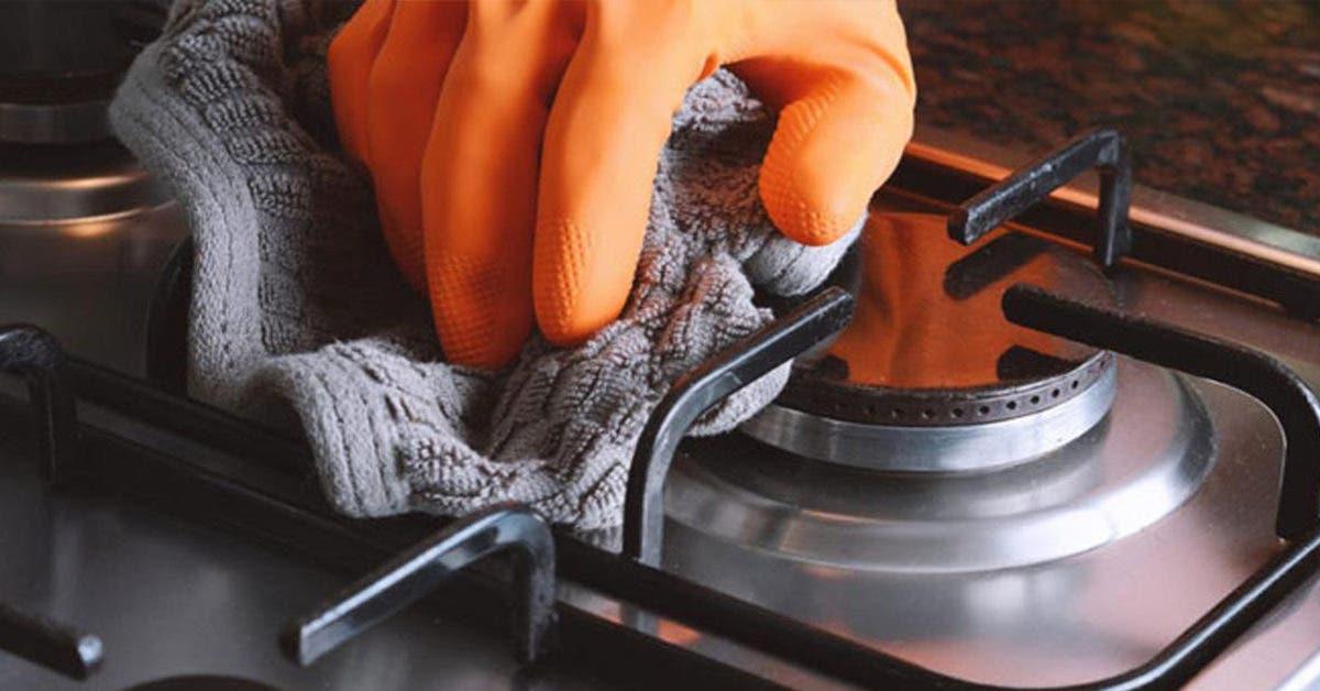 3 astuces naturelles pour nettoyer les brûleurs à gaz de la cuisinière