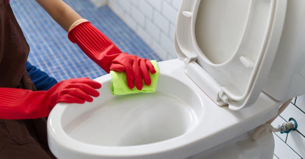 Voici comment enlever les taches sur votre cuvette de toilette avec des produits ménagers