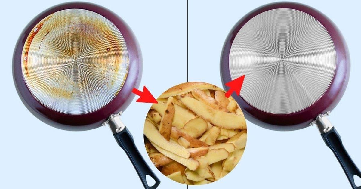 Comment nettoyer la maison avec des pelures de pomme terre pour désincruster la saleté la plus collante