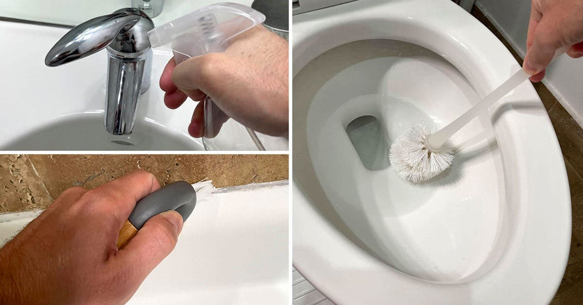 Des astuces de génies pour nettoyer toute la salle de bain avec du vinaigre blanc