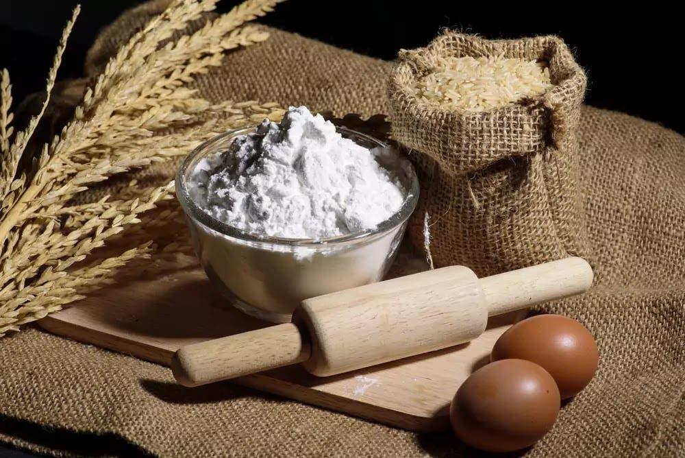 oeuf farine de riz