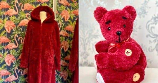 ours peluche rouge