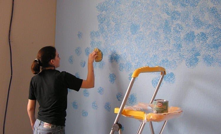 peinture a leponge