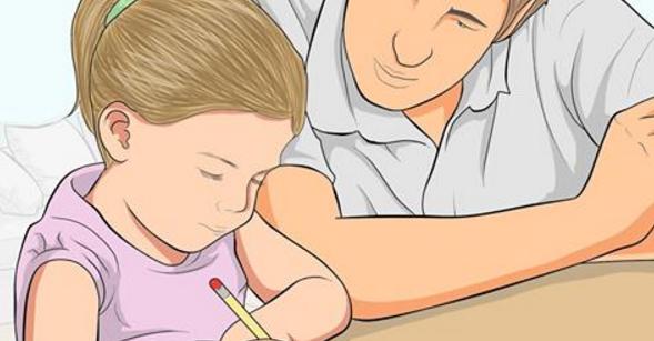 pere aide enfant devoirs