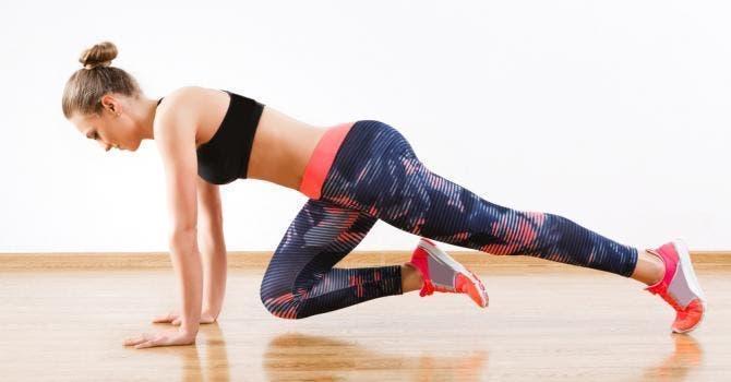 planche flexion genou