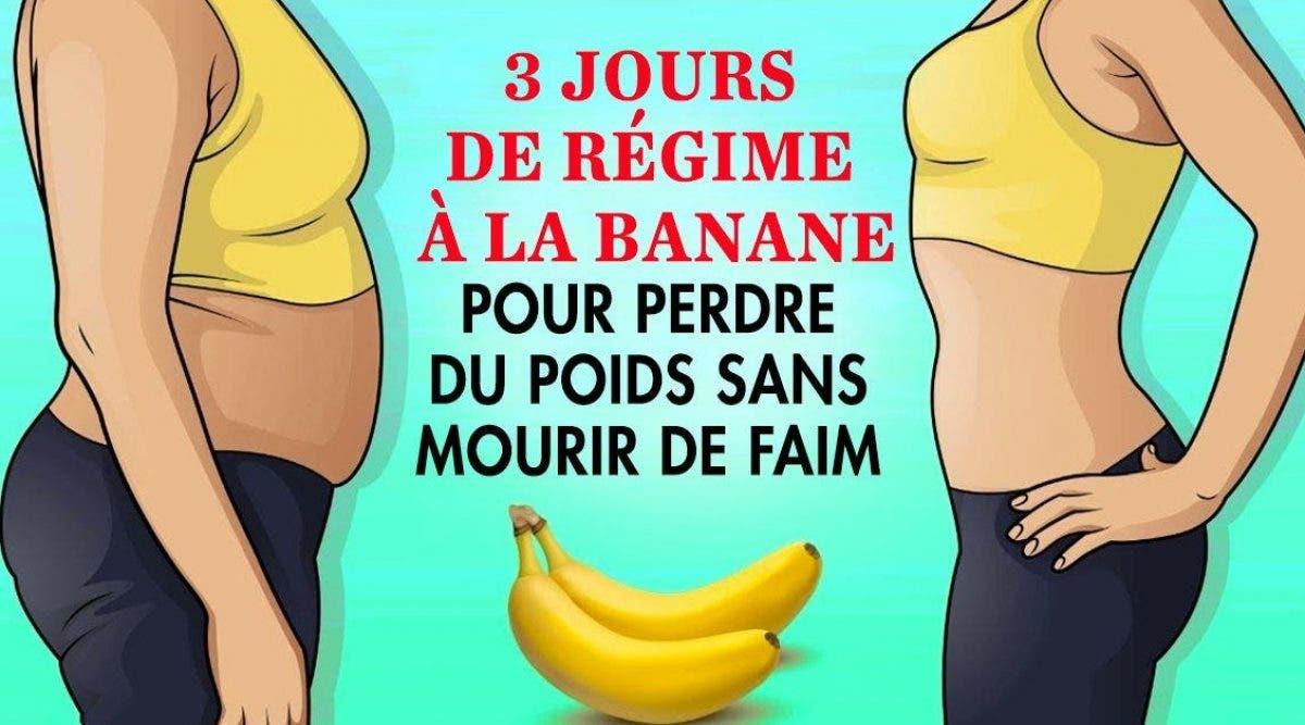 3 jours de régime à la banane pour perdre du poids sans mourir de faim