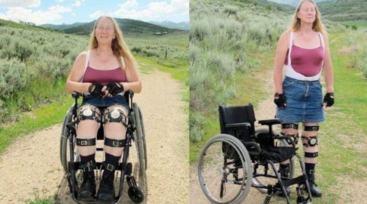pourtant cette femme veut être paralysée en permanence