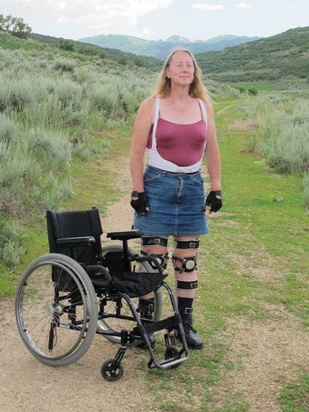 cette femme veut être paralysée en permanence