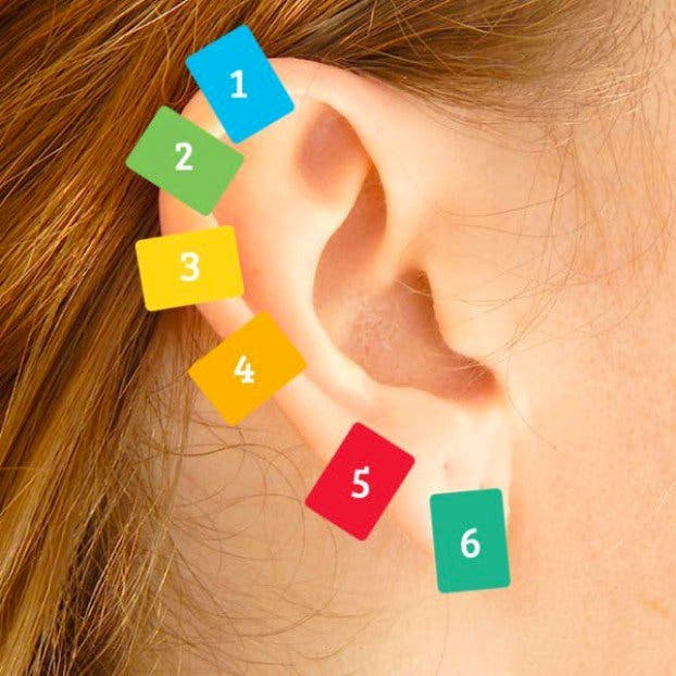 press a clothespin against your ear
