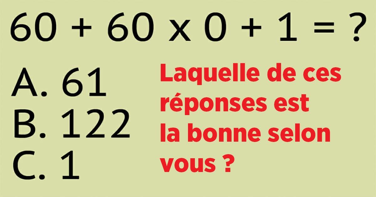 Pouvez-vous résoudre ce problème mathématique ?