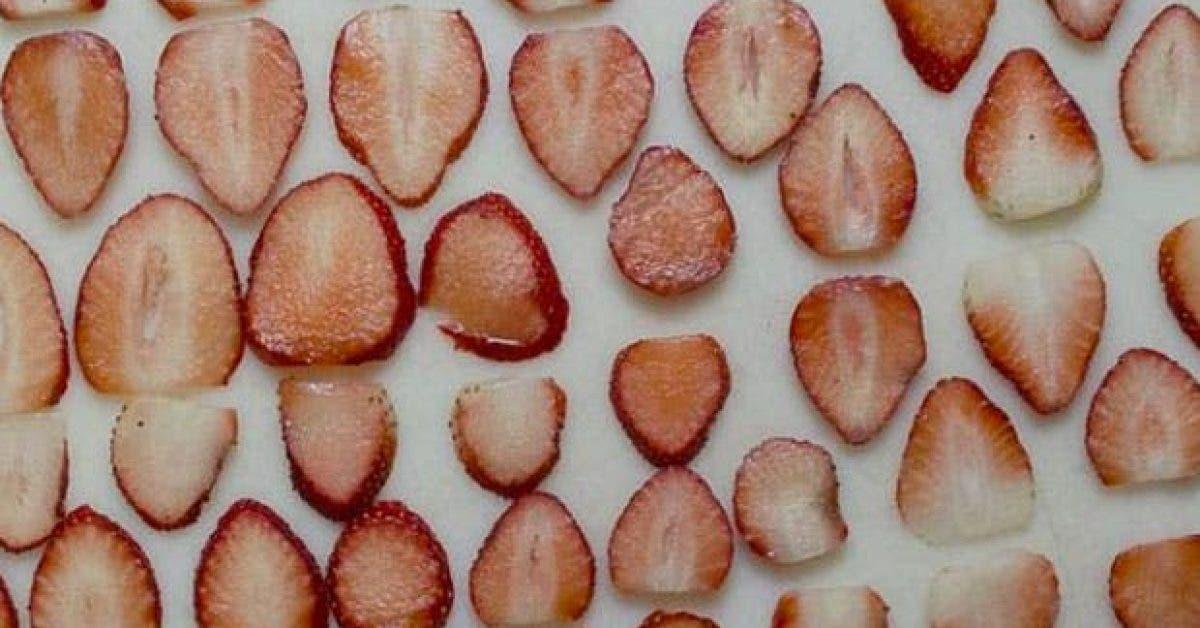 recette simple des chips de fraises pour prevenir le diabete et perdre du poids 1
