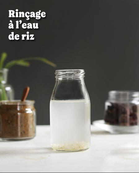 rincage eau de riz