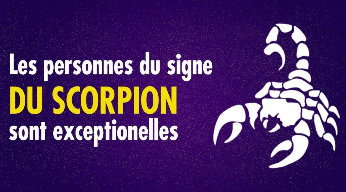 Connaître une personne du signe du scorpion est une chance