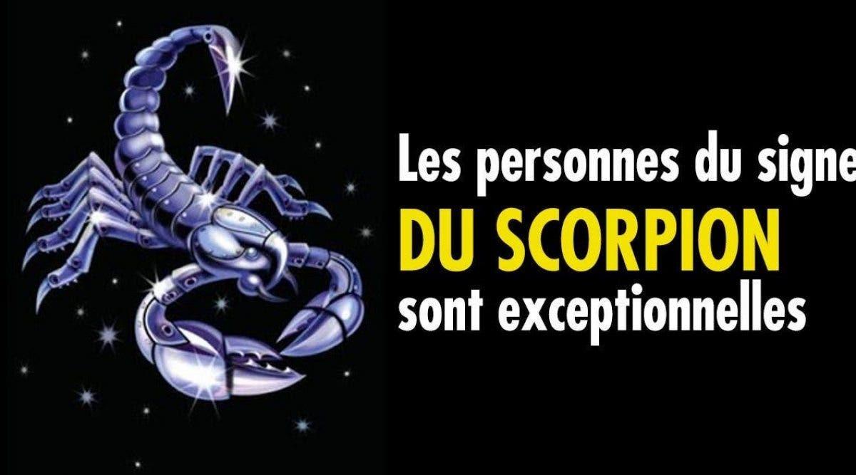 Nous avons tous avoir une personne du signe du scorpion dans notre vie