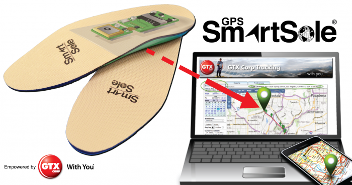 semelles de chaussures GPS