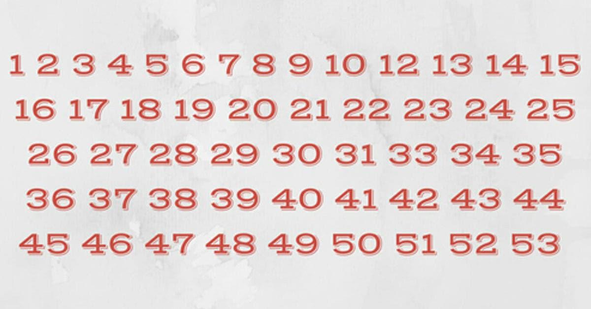 Cela ressemble à une série ordinaire de chiffres mais pouvez-vous repérer ce qui ne va pas ?