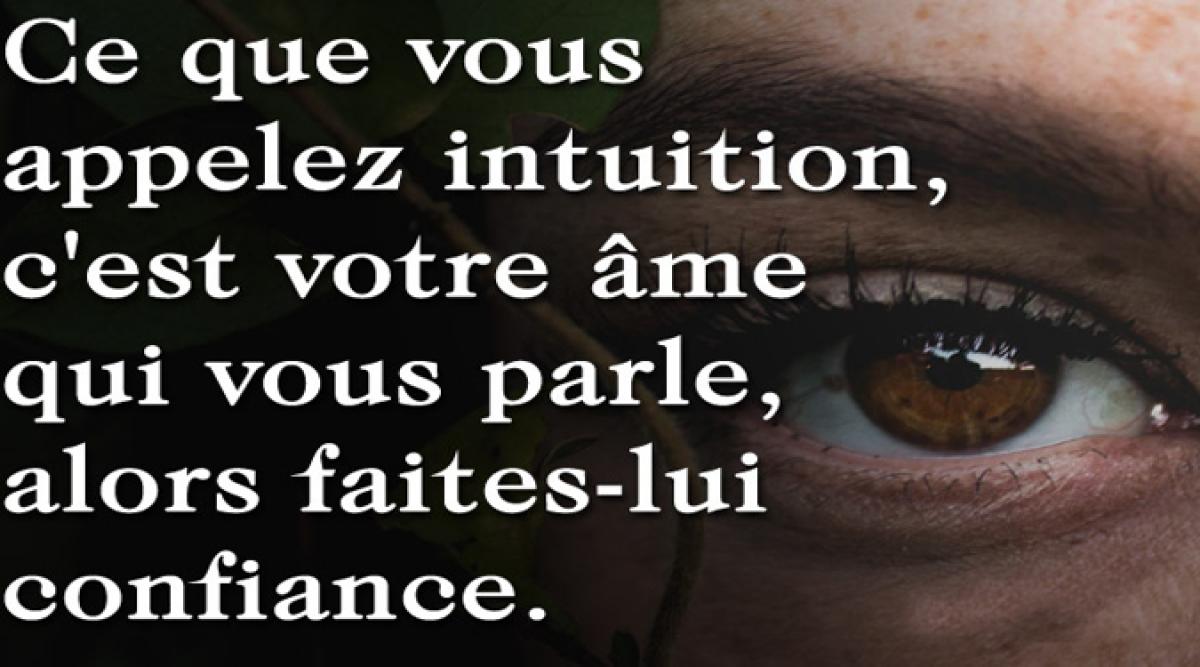signaux provenant de votre intuition