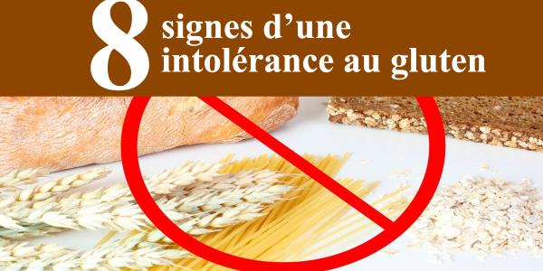 signes d'une intolérance au gluten