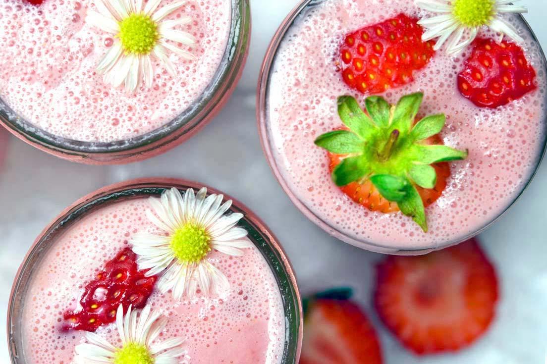 smoothie a la fraise