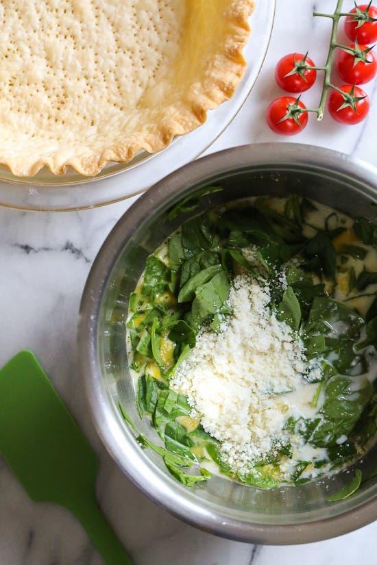 spinach quiche 1 1