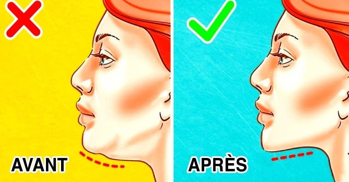 meilleurs exercices pour se débarrasser du double menton
