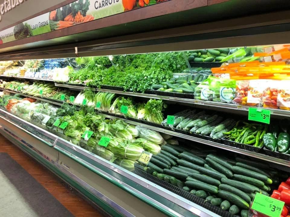 supermarche rayon legume