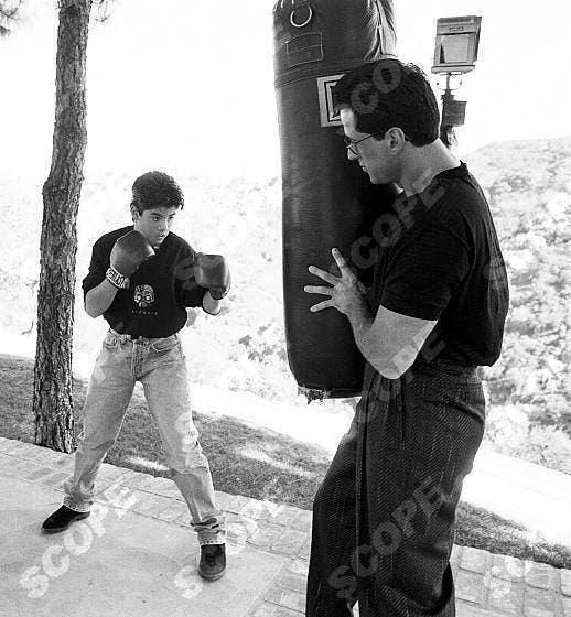 sylvestre stallone et son fils boxe