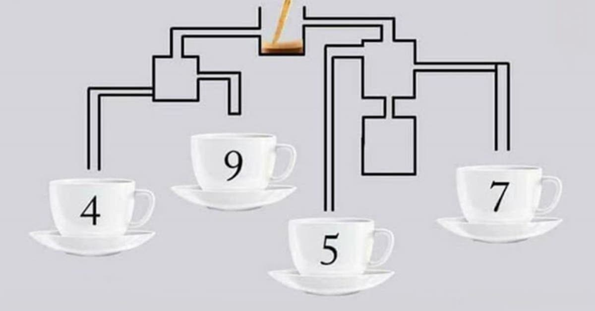 Quelle tasse de café se remplira en premier ? Pouvez-vous résoudre ce jeu en 10 secondes ?