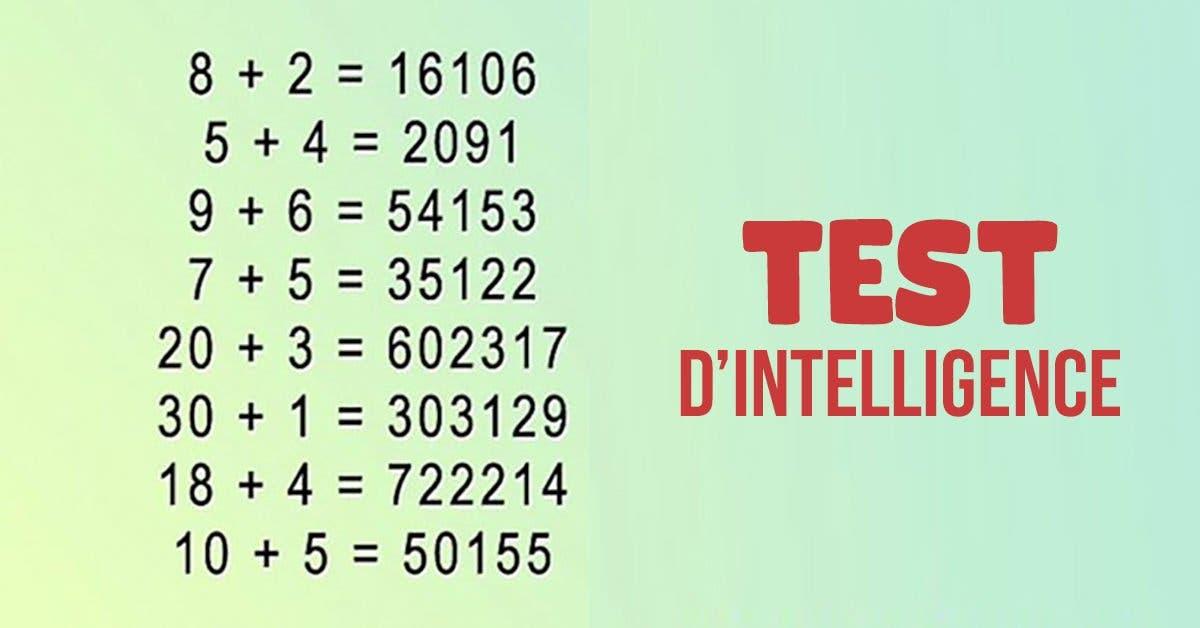 Pouvez-vous résoudre ce test ?