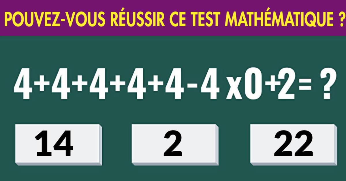 Avez-vous la solution à ce test mathématique que des enfants génies ont réussi à résoudre ?