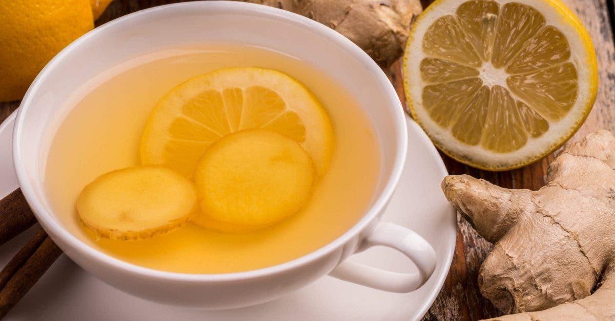thé au citron et au gingembre quotidiennement