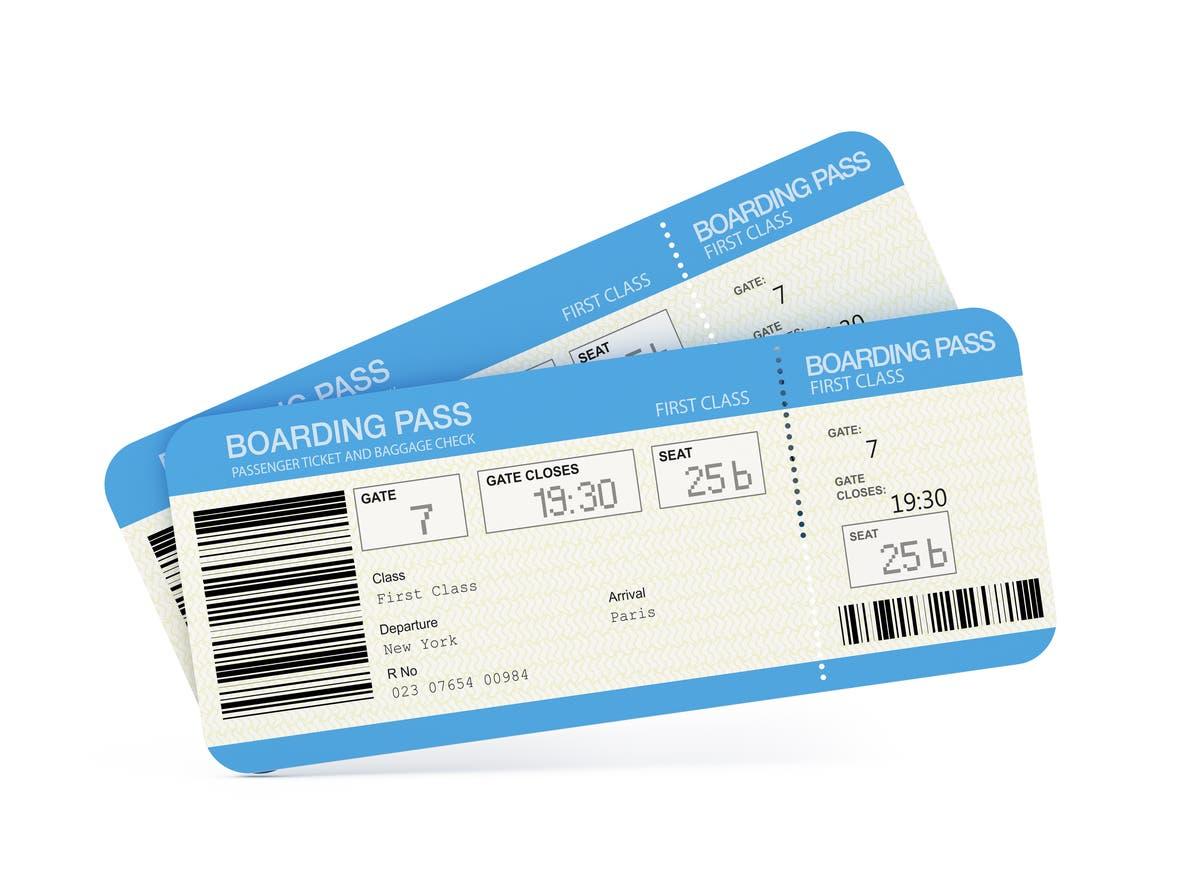 ticket d'embarquement