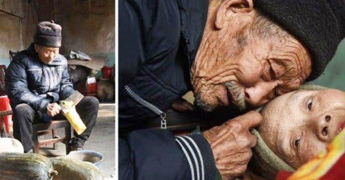 Par amour, un homme prend soin de sa femme paralysée durant 56 ans puis prononce 9 mots qui vont la faire craquer